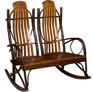Hickory Double Amish Rocking Chair