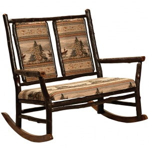 Hickory Grandpa Double Amish Rocking Chair