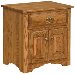 Harmony Classic Amish Drawer & Door Nightstand
