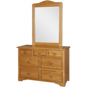 Harmony Classic Amish Small Dresser & Optional Mirror