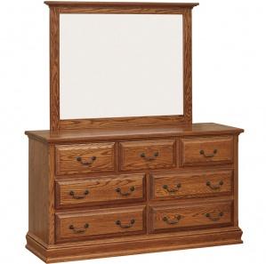 Harmony Royal Amish 7 Drawer Dresser & Optional Mirror