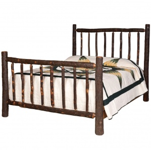 Hickory Lumberjack Amish Bed
