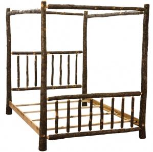 Hickory Amish Canopy Bed