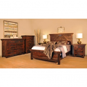 Rustic Carlisle Amish Bedroom Furniture Set
