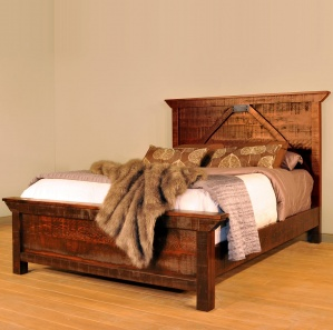Rustic Carlisle Amish Bed