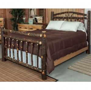 Hickory Wagon Wheel Amish Bed