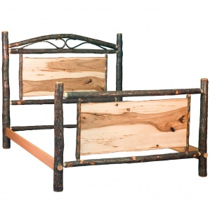 Hickory Amish Panel Bed