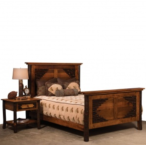Wildwood Hickory Amish Bed