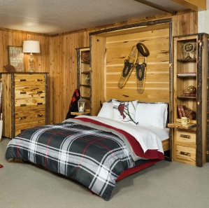 Hickory Amish Murphy Bed