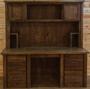 Indian Creek Executive Amish Desk with Hutch Option