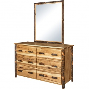Allegheny Hickory Amish Dresser with Mirror Option
