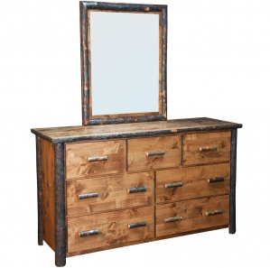 Bear Lodge Hickory Amish Dresser & Optional Mirror