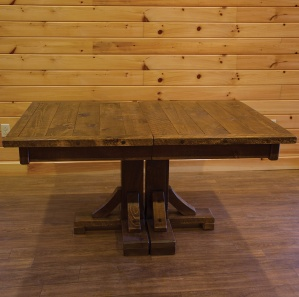 Indian Creek Twin Pedestal Amish Dining Table