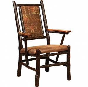 Hickory Fireside Amish Chair with Fabric