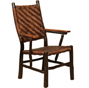 Hickory Fireside Amish Chair with Caning