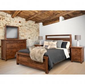 Rustic Loft Amish Bedroom Furniture Set