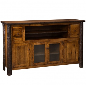 Hickory 4 Door Amish TV Stand