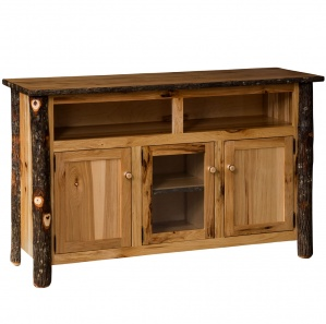 Hickory 3 Door Amish TV Stand