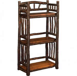 Hickory Amish Spindle Bookcase