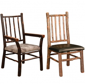 Hickory Spindle Back Amish Dining Chairs