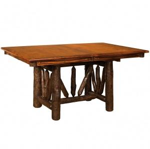 Hickory Amish Wagon Wheel Dining Table