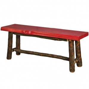 Hickory Pine Top Amish Bench