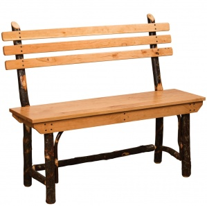 Allegheny Amish Bench with Back