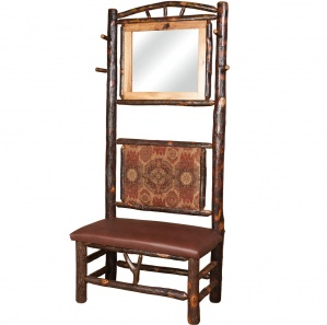 Allegheny Amish Entryway Bench with Mirror and Coat Rack