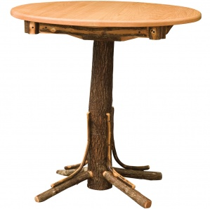 Hickory Round Amish Pub Table