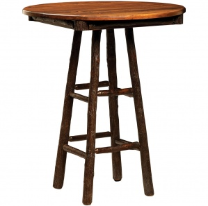 Hickory Windmill Round Amish Pub Table
