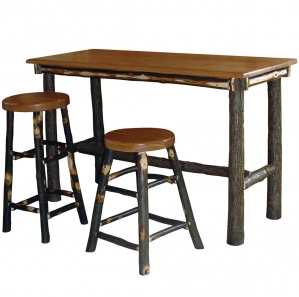 Hickory Rectangle Amish Pub Table