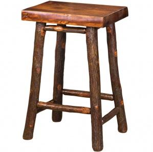 Hickory Pine Top Amish Bar Stool