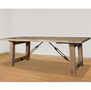 Benchmark Live Edge Amish Dining Table