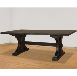 Rustic Carlisle Live Edge Amish Dining Table