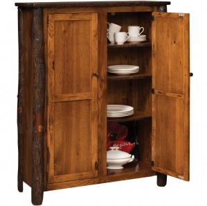 Hickory 2 Door Amish Jelly Cupboard