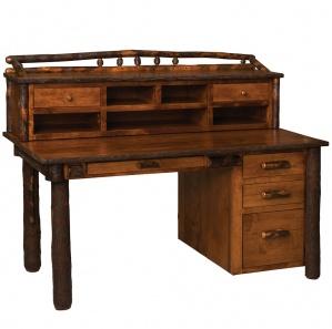 Allegheny Amish Secretary Desk with Desktop Organizer Option