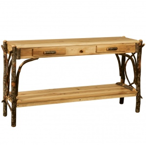 Allegheny Bentwood 2 Drawer Amish Sofa Table