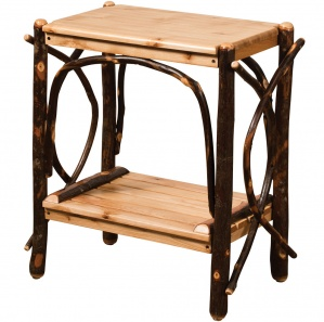 Allegheny Amish End Table with Shelf