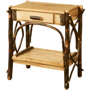Allegheny Bentwood Amish End Table with Drawer