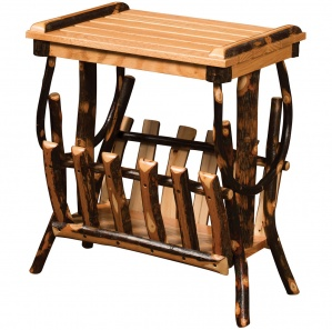 Allegheny Bentwood Amish End Table with Magazine Rack