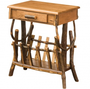 Allegheny Amish End Table with Magazine Rack and Drawer