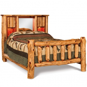 Elkhorn Bookcase Amish Bed