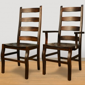 Rustic Carlisle Amish Dining Chairs