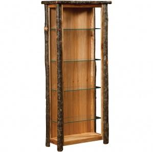 Lumberjack Amish Curio Cabinet with Optional Doors