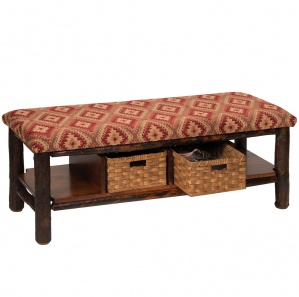 Lumberjack Amish Bench with Baskets