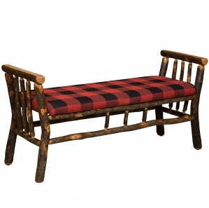 Allegheny Upholstered Amish Bench with Arms