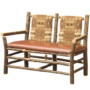 Allegheny Upholstered Amish Settee