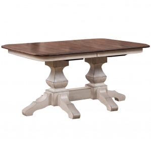 Kingston Double Pedestal Amish Dining Table