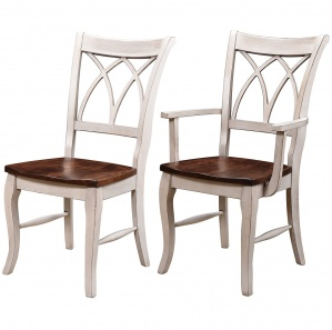 Double X Back Amish Dining Chairs