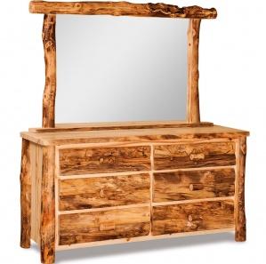 Elkhorn 6 Drawer Amish Dresser with Mirror Option